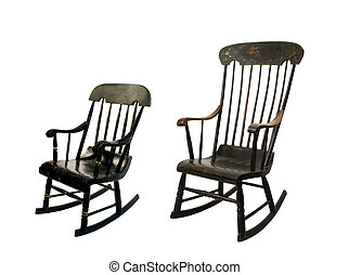 adult and childs rocking chairs