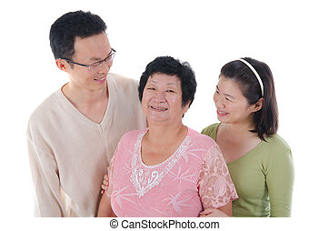 adult asian family