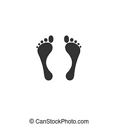 Adult barefoot traces