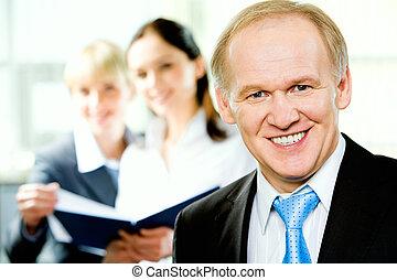Adult business man - Portrait of confident adult business...