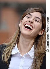 Adult Business Woman Laughing