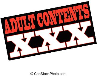 Adult contents