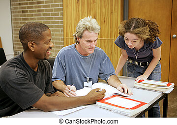 Adult Ed - Diversity - A group of diverse adult education...