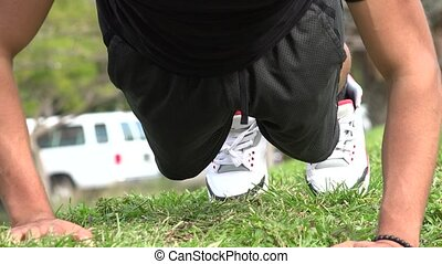 Adult Hispanic Man Exercising
