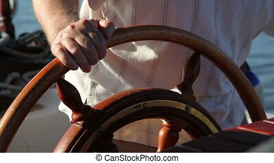 adult man driving a boat 3