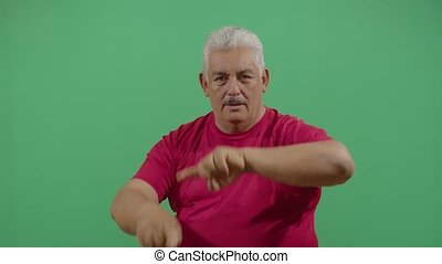Adult Man Making Circles With His Hands