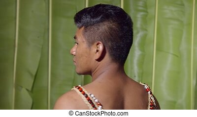 Adult Man Turning Around To See The Viewer Disclosing His Or Her Identity In Ecuador