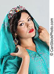 Adult woman in arabian dress