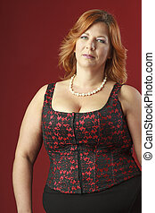 Adult woman in corset