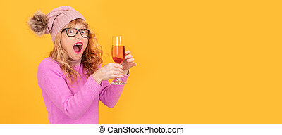 adult woman with cup isolated on background