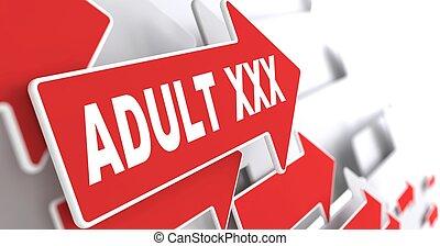 Adult XXX Concept on Red Arrow.