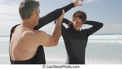 adulte, activités, apprécier, extérieur, père, fils,...