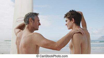 adulte, activités, apprécier, extérieur, père, fils, ...