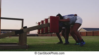 adulte, rugby, femme, formation, joueurs, jeune