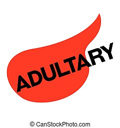 ADULTERY sticker stamp - ADULTERY sticker. Authentic design...