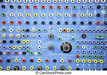 adulto, ed, -, electrónica, sistemas, laboratorio