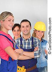 adultos jóvenes, en, instrucción negocio