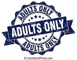adultos só, stamp., sinal., selo