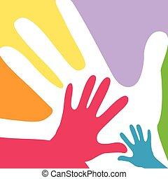 adults, dzieci, razem, siła robocza