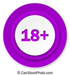 adults icon, violet button