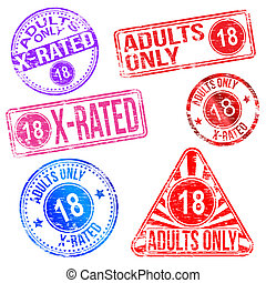 Adults Only Rubber Stamps - Adults only and X rated rubber...