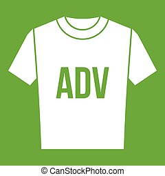 adv, t-shirt, druck, grün, ikone