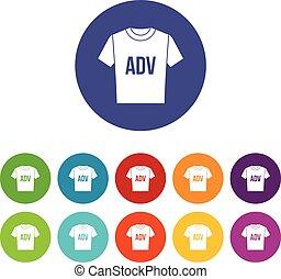 adv, t-shirt, satz, druck, heiligenbilder