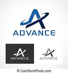 Advance Logo Symbol.
