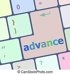 advance on computer keyboard key enter button