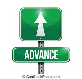 advance road sign illustration design