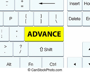 Advance yellow keyboard button