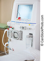 Advanced Dialysis Machine In Chemo Room - Closeup of ...