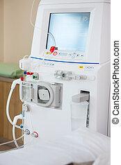 Advanced Dialysis Machine In Chemo Room - Closeup of...