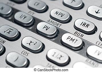Advanced Financial Calculator - closeup of advanced...