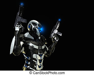advanced future soldier 3d render