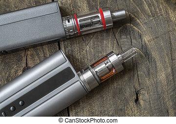 Advanced personal vaporizer or e-cigarette, close up
