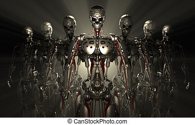 3d render of advanced robots
