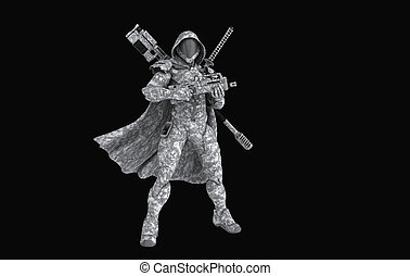 Advanced soldier - 3d render of a advanced soldier
