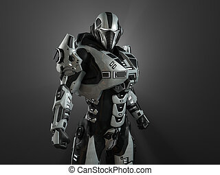 Advanced super soldier - 3d render of a advanced super...