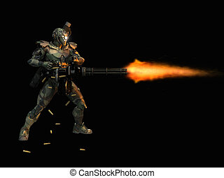 3d render of advanced soldier