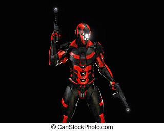 Advanced super soldier - 3d render of advanced super soldier