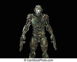 Advanced super soldier 3d render