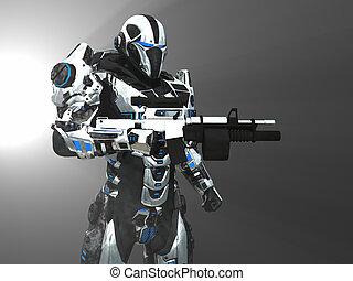 Advanced super soldier - 3d render of advanced super soldier