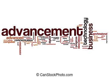 Advancement word cloud