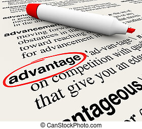 Advantage Dictionary Definition Word Circled Meaning Competitive Edge