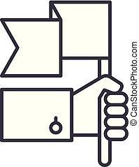 Advantage line icon concept. Advantage vector linear illustration, symbol, sign