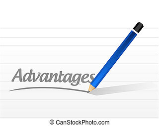 advantage message sign illustration