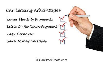 advantages, autó, bérbe adó, ideiglenes katalógus