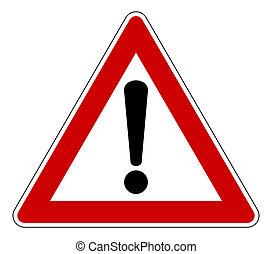 advare trekant, tegn