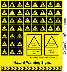 advarsel, hazard underskriv